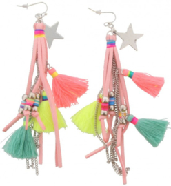 Earrings Star and Tassels