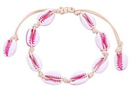 Schelp armbandje | Roze-wit