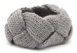 Knitted Headband Licht Grijs