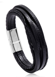 Lederen Armband | Zwart