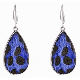 Panterprint Blauw/Zilver