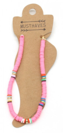 Trendy Anklet with Rubber Beads