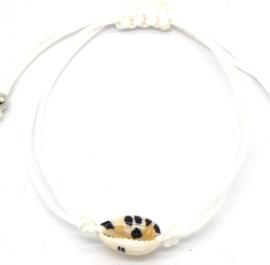 Armbandje met schelp | Wit