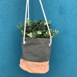 Plantenhanger Jute Kurk Green M