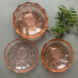 Gebaksbordjes set a 6 rosé glas