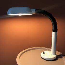 Bureaulamp zwart/wit