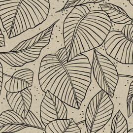 rol papier extra lang, lovely leaves