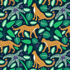 rol papier groen, jungle panter