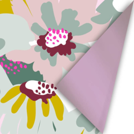 rol papier extra lang, floral statement big blossom