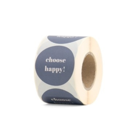 sluitzegel/sticker rond, choose happy 10 stuks