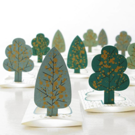 mini kaart, pop-up bomen