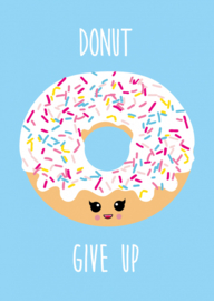 kaart, donut give up