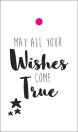 label wit, may all your wishes come true 5 stuks