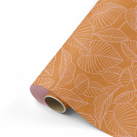 rol papier extra lang, lovely leaves roest