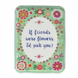 blikje;  if friends where flowers...