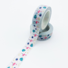 washi tape, flamingo 10 meter