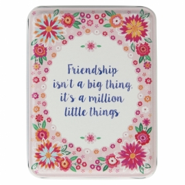 blikje;  frendship isn't a big thing...