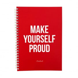 note book, make yourself proud