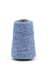 bakers twine donker blauw/wit 10 meter