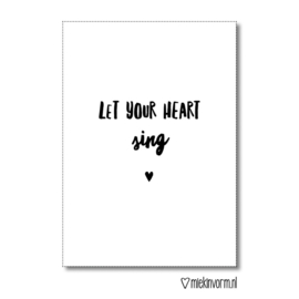kaart, let your hart sing