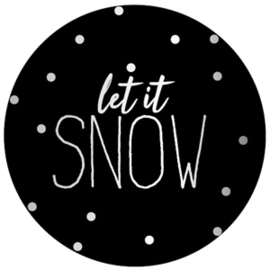 sluitzegel/sticker rond, let it snow 10 stuks