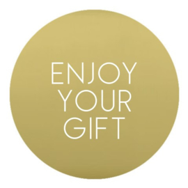 sluitzegel/sticker rond goud, enjoy your gift 10 stuks