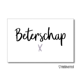 label, beterschap x