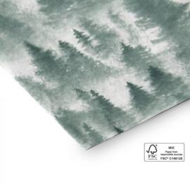 vellen tissuepapier, forrest 8 stuks