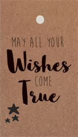 label kraft, may all your wishes come true 5 stuks