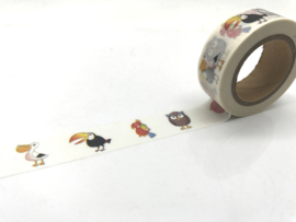 washi tape vogels, 10 meter