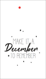label kerst, make it a december to remember wit 5 stuks