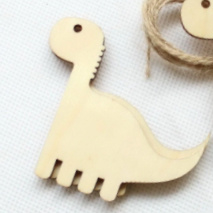 decoratie/label, houten dino