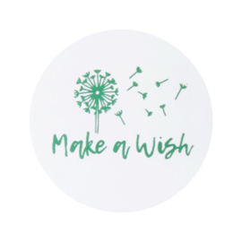 sluitzegel/sticker rond, make a wish 10 stuks