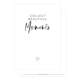 kaart, collect beautiful moments