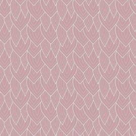rol papier, leaves soft pink