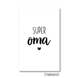 mini kaart, super oma ♥