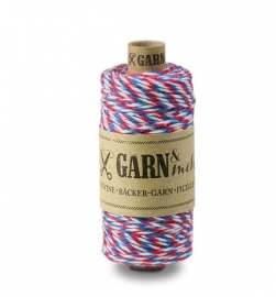 bakers twine rood wit blauw