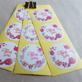 sluitzegel/sticker rond, thank you 10 stuks