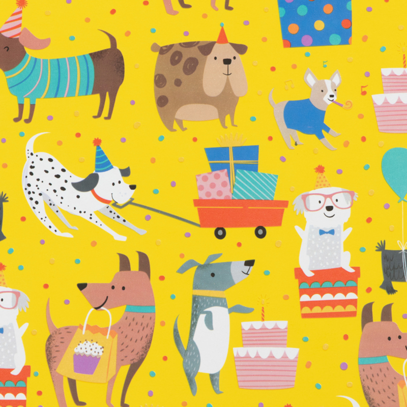 rol papier, party dogs