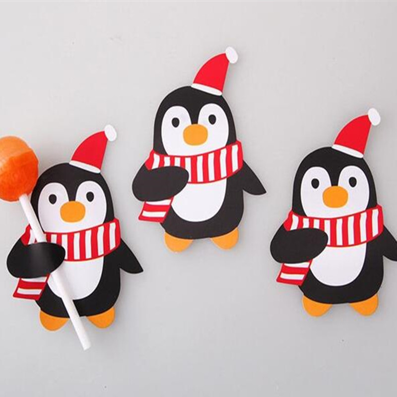 lolly cover, pinguin 10 stuks
