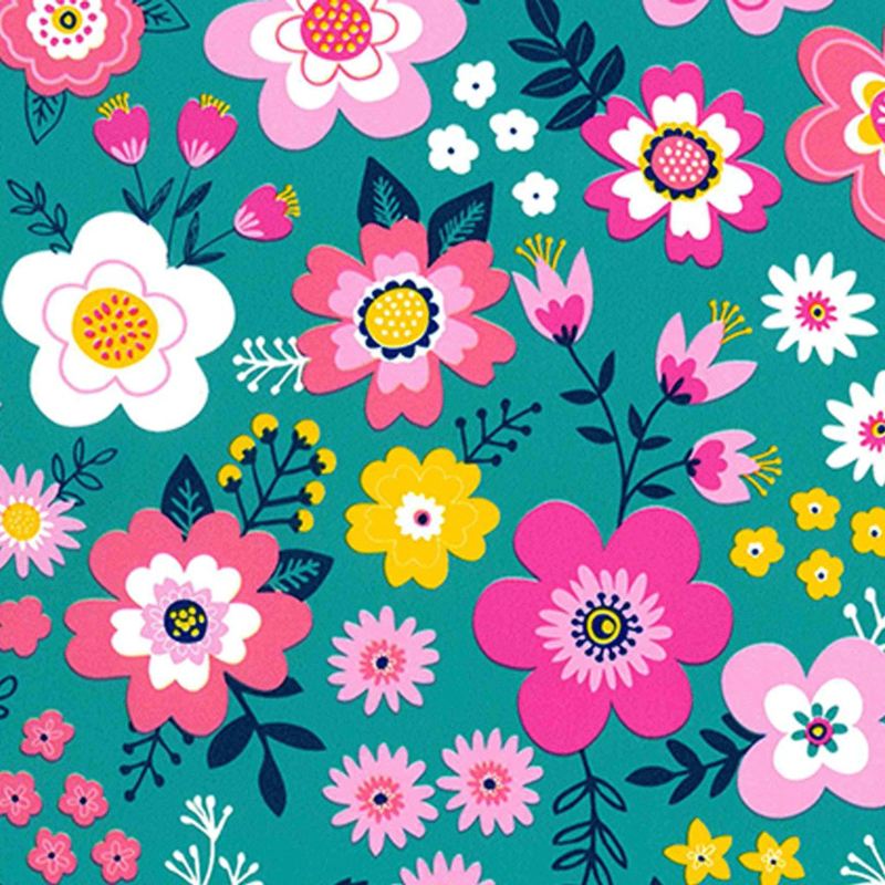 rol papier, pretty flowers