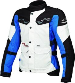 Macna Mountain Motorjas Wit/Blauw/Zwart