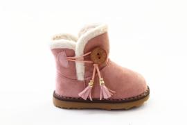 warm winter baby boots roze gevoerd