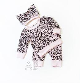 Leopard setje pink