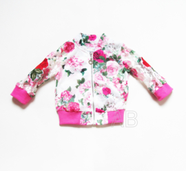 Lovely Lace and red roses jacket