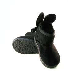 Bunny booties baby black