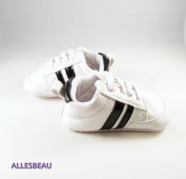 Baby sneakers wit met zwart
