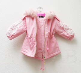 Jas Pearly girly pink tussenjas