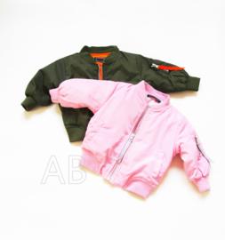 Pink baby bomberjasje