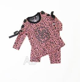 Leopard lace setje